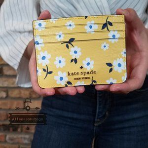 Kate Spade SMALL SLIM Card Holder Darcy Fleurette